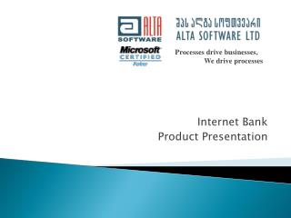 Internet Bank Product Presentation