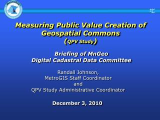 Measuring Public Value Creation of Geospatial Commons   ( QPV Study )