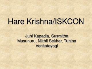 Hare Krishna/ISKCON
