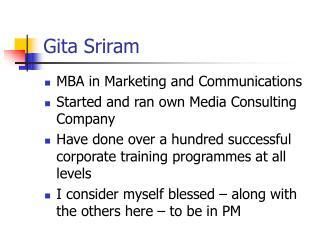 Gita Sriram
