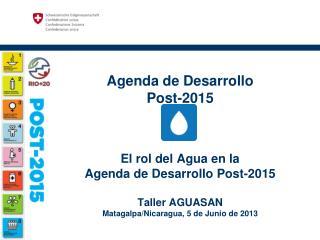 Agenda de  Desarrollo  Post-2015 de la ONU  –  Processo