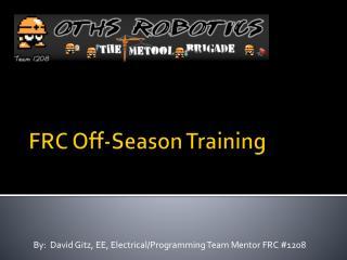 FRC Off-Season Training