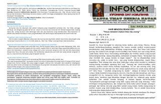 Edisi : XVI/29 JULI 2012