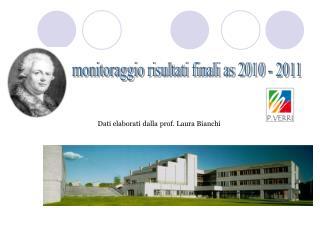 Dati elaborati dalla prof. Laura Bianchi