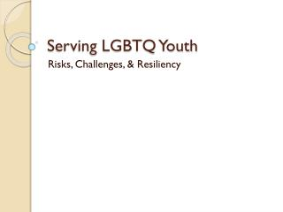 Serving LGBTQ Youth