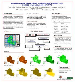 PARAMETERIZATION AND VALIDATION OF BIOGEOCHEMICAL MODEL CASA