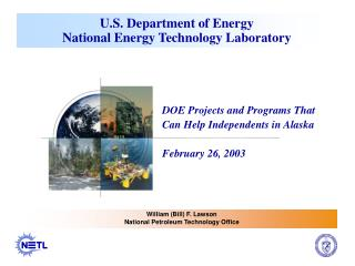 U.S. Department of Energy National Energy Technology Laboratory