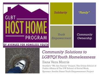 Community Solutions to LGBTQI Youth Homelessness