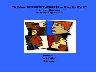 """It Takes, DIFFERENT STROKES to Move the World"" Diversity Resources for Pratical Applications"
