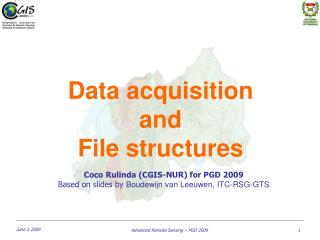 Data acquisition  and  File structures