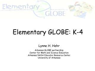 Elementary GLOBE: K-4