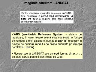 Imaginile satelitare LANDSAT