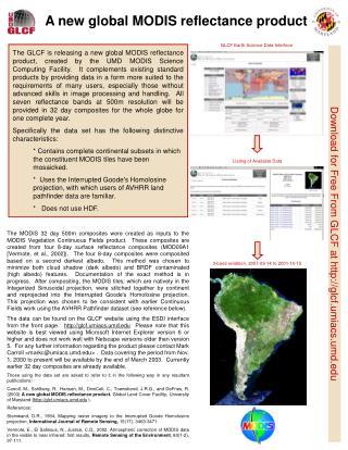 A new global MODIS reflectance product