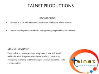 TALNET PRODUCTIONS