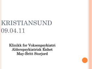 KRISTIANSUND 09.04.11