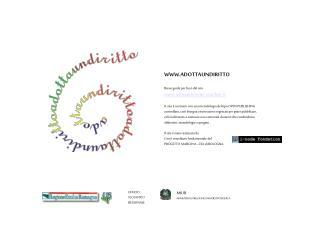 WWW.ADOTTAUNDIRITTO Breve guida per l'uso del sito  adottaundiritto.scuolaer.it