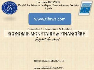 ECONOMIE MONETAIRE  & financière