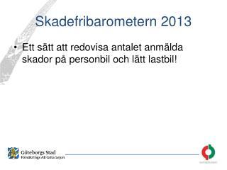 Skadefribarometern 2013