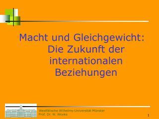 Macht und Gleichgewicht: Die Zukunft der internationalen Beziehungen
