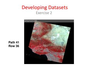 Developing Datasets
