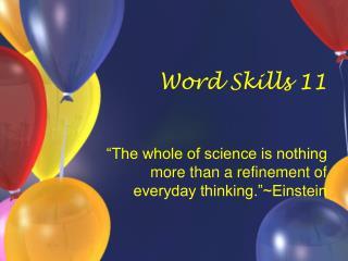 Word Skills 11