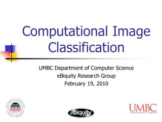 Computational Image Classification