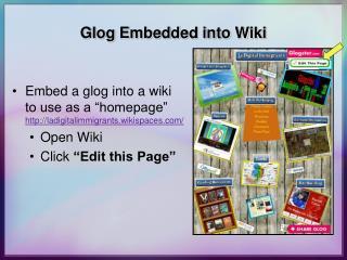 Glog Embedded into Wiki