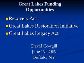 Great Lakes Funding Opportunities