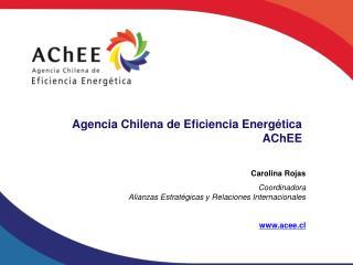 Carolina Rojas Coordinadora  Alianzas Estrat�gicas y Relaciones Internacionales acee.cl