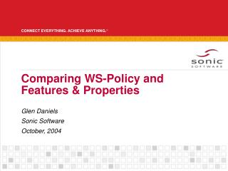 Comparing WS-Policy and Features & Properties
