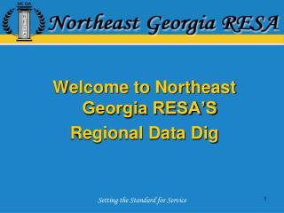 Welcome to Northeast Georgia RESA'S Regional Data Dig