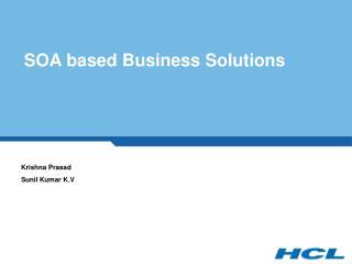 SOA based Business Solutions