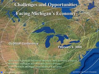 Challenges and Opportunities  Facing Michigan's Economy