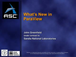 What�s New in ParaView