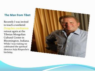 The Man from Tibet