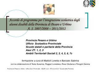 Provincia Pesaro e Urbino Ufficio  Scolastico Provinciale