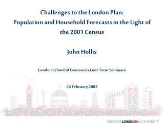 Timetable of London Plan Demographic Work