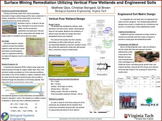 Surface Mining Remediation Utilizing Vertical Flow Wetlands and Engineered Soils