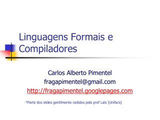 Linguagens Formais e Compiladores
