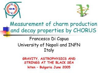 Measurement of charm production and decay properties by CHORUS