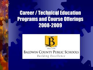 Career / Technical Education  Programs and Course Offerings 2008-2009