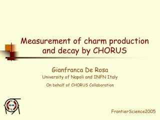 Measurement of charm production  and decay by CHORUS