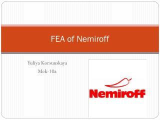 FEA of Nemiroff