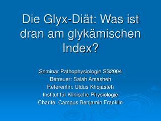 Die Glyx-Diät: Was ist dran am glykämischen Index?