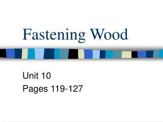 Fastening Wood