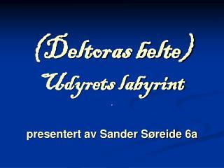 (Deltoras belte) Udyrets labyrint presentert av Sander Søreide 6a