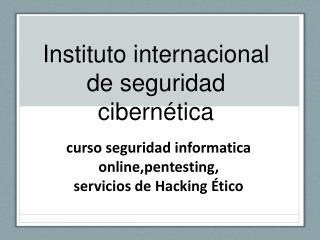 curso seguridad informatica online
