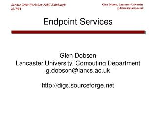 Endpoint Services
