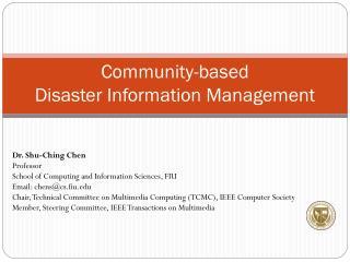 Community-based  Disaster Information Management