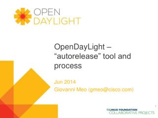 "OpenDayLight – ""autorelease"" tool and process"